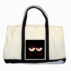Halloween  Trick or treat  - monsters red eyes Two Tone Tote Bag