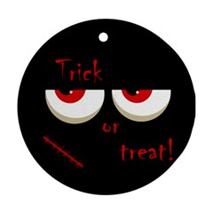 Halloween  Trick or treat  - monsters red eyes Round Ornament (Two Sides)
