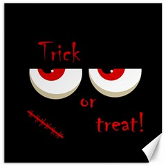 Halloween  Trick or treat  - monsters red eyes Canvas 12  x 12