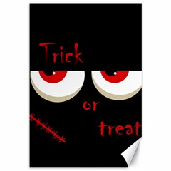 Halloween  Trick or treat  - monsters red eyes Canvas 12  x 18