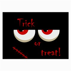 Halloween  Trick or treat  - monsters red eyes Large Glasses Cloth (2-Side)