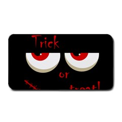 Halloween  Trick or treat  - monsters red eyes Medium Bar Mats