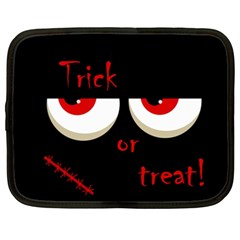 Halloween  Trick or treat  - monsters red eyes Netbook Case (XXL)