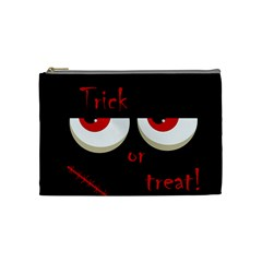 Halloween  Trick or treat  - monsters red eyes Cosmetic Bag (Medium)