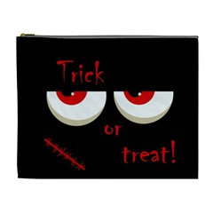 Halloween  Trick or treat  - monsters red eyes Cosmetic Bag (XL)