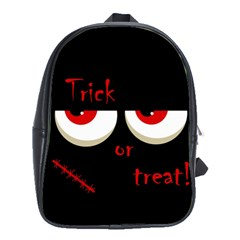 Halloween  Trick or treat  - monsters red eyes School Bags(Large)