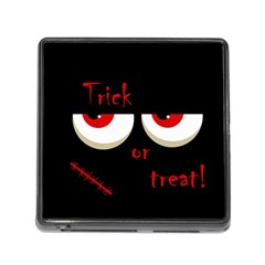 Halloween  Trick or treat  - monsters red eyes Memory Card Reader (Square)