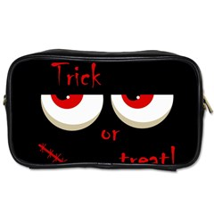Halloween  Trick or treat  - monsters red eyes Toiletries Bags 2-Side