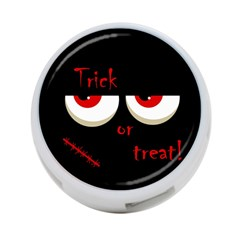 Halloween  Trick or treat  - monsters red eyes 4-Port USB Hub (One Side)