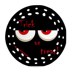 Halloween  Trick or treat  - monsters red eyes Ornament (Round Filigree)
