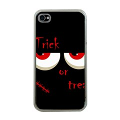 Halloween  Trick or treat  - monsters red eyes Apple iPhone 4 Case (Clear)