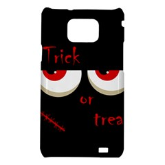 Halloween  Trick or treat  - monsters red eyes Samsung Galaxy S2 i9100 Hardshell Case