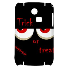 Halloween  Trick or treat  - monsters red eyes Samsung S3350 Hardshell Case