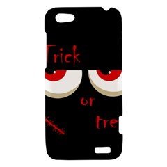 Halloween  Trick or treat  - monsters red eyes HTC One V Hardshell Case