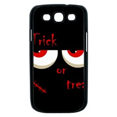 Halloween  Trick or treat  - monsters red eyes Samsung Galaxy S III Case (Black)