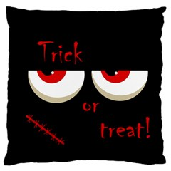 Halloween  Trick or treat  - monsters red eyes Large Cushion Case (One Side)