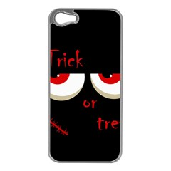 Halloween  Trick or treat  - monsters red eyes Apple iPhone 5 Case (Silver)
