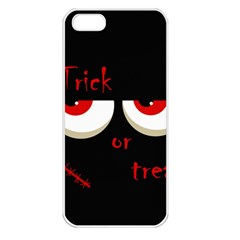 Halloween  Trick or treat  - monsters red eyes Apple iPhone 5 Seamless Case (White)