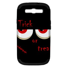 Halloween  Trick or treat  - monsters red eyes Samsung Galaxy S III Hardshell Case (PC+Silicone)