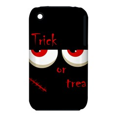 Halloween  Trick or treat  - monsters red eyes Apple iPhone 3G/3GS Hardshell Case (PC+Silicone)