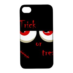 Halloween  Trick or treat  - monsters red eyes Apple iPhone 4/4S Hardshell Case with Stand