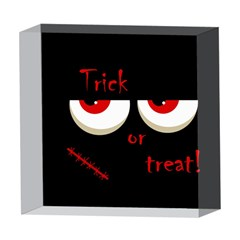 Halloween  Trick or treat  - monsters red eyes 5  x 5  Acrylic Photo Blocks