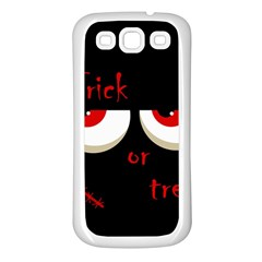 Halloween  Trick or treat  - monsters red eyes Samsung Galaxy S3 Back Case (White)