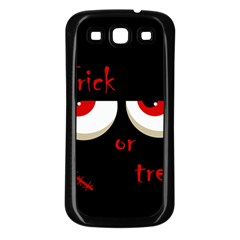Halloween  Trick or treat  - monsters red eyes Samsung Galaxy S3 Back Case (Black)