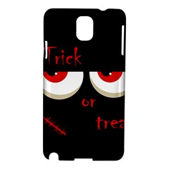 Halloween  Trick or treat  - monsters red eyes Samsung Galaxy Note 3 N9005 Hardshell Case