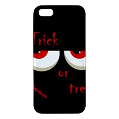 Halloween  Trick or treat  - monsters red eyes iPhone 5S/ SE Premium Hardshell Case