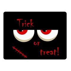 Halloween  Trick or treat  - monsters red eyes Double Sided Fleece Blanket (Small)