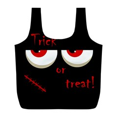 Halloween  Trick or treat  - monsters red eyes Full Print Recycle Bags (L)