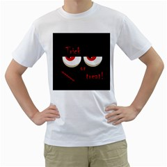 Halloween  Trick or treat  - monsters red eyes Men s T-Shirt (White)