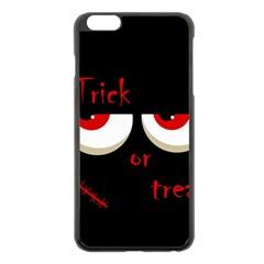 Halloween  Trick or treat  - monsters red eyes Apple iPhone 6 Plus/6S Plus Black Enamel Case