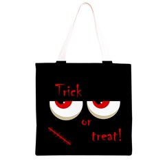 Halloween  Trick or treat  - monsters red eyes Grocery Light Tote Bag