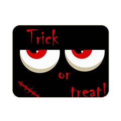 Halloween  Trick or treat  - monsters red eyes Double Sided Flano Blanket (Mini)