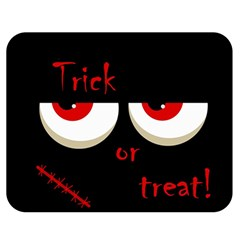 Halloween  Trick or treat  - monsters red eyes Double Sided Flano Blanket (Medium)