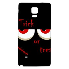 Halloween  Trick or treat  - monsters red eyes Galaxy Note 4 Back Case