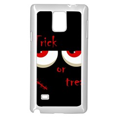 Halloween  Trick or treat  - monsters red eyes Samsung Galaxy Note 4 Case (White)