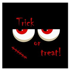 Halloween  Trick or treat  - monsters red eyes Large Satin Scarf (Square)