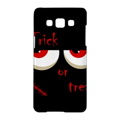 Halloween  Trick or treat  - monsters red eyes Samsung Galaxy A5 Hardshell Case