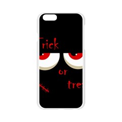 Halloween  Trick or treat  - monsters red eyes Apple Seamless iPhone 6/6S Case (Transparent)