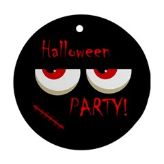 Halloween party - red eyes monster Ornament (Round)