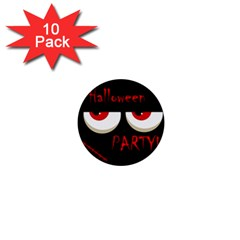 Halloween party - red eyes monster 1  Mini Buttons (10 pack)