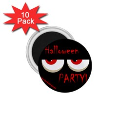 Halloween party - red eyes monster 1.75  Magnets (10 pack)