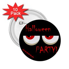 Halloween party - red eyes monster 2.25  Buttons (10 pack)