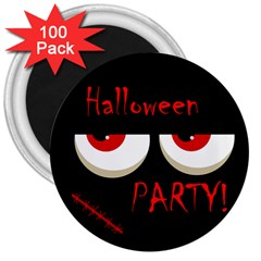 Halloween party - red eyes monster 3  Magnets (100 pack)
