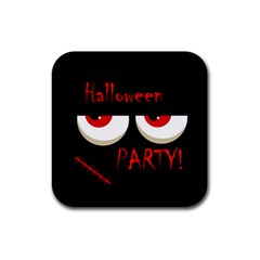 Halloween party - red eyes monster Rubber Coaster (Square)