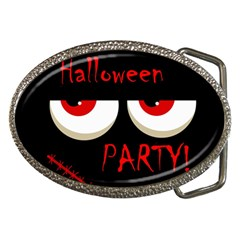 Halloween party - red eyes monster Belt Buckles