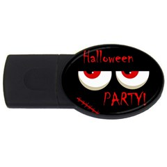 Halloween party - red eyes monster USB Flash Drive Oval (1 GB)